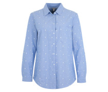 Bluse 'Cotton Oxford' hellblau / weiß