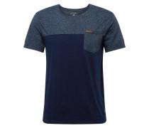 Shirt 'terminal' dunkelblau / taubenblau