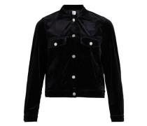 Samt-Jacke schwarz