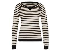 Pullover 'with buttons' schwarz / weiß