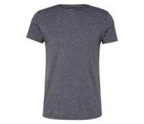 T-Shirt in Melange-Design dunkelblau