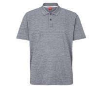 Poloshirt mit Präge-Label taubenblau