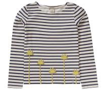 Langarmshirt für Mädchen beige / dunkelblau