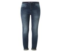 Jeans mit Crinkle-Effekt blau
