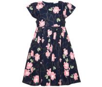 Kleid mit kurzen Ärmeln 'nitsoliana' ultramarinblau / hellgrün / rosa / weiß