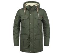 Winterjacke 'Chara Teddy' grün / dunkelgrün
