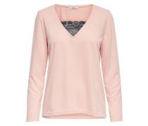 Detailreich Pullover rosa