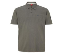 Poloshirt mit Stitching dunkelgrau