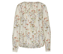 Bluse mit floralem Muster offwhite