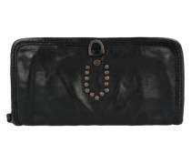 Portafoglio Geldbörse Leder 21 cm schwarz