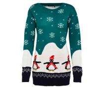 Pullover 'Willow Penguin Christmas' grün
