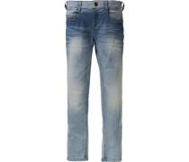 Jeans Tight fit für Jungen Bundweite Slim blue denim