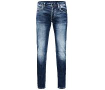 Slim Fit Jeans Tim Leon Indigo-Strick blau