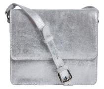 Wildleder- Tasche silber