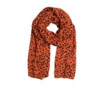 Oversize-Schal orange / braun