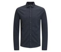 Jersey-Langarmhemd graumeliert