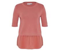 2-in-1-Pullover mit Seidensaum pink