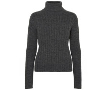 Pullover Rollkragen- grau / dunkelgrau