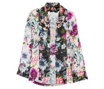 Kimono-Jacke mit Blumendruck mischfarben