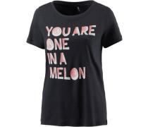 T-Shirt Damen nachtblau / rosa