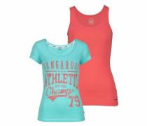 Print-Shirt (Set 2 tlg. mit Top) blau / orange