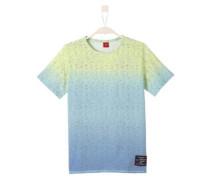 Meliertes Farbverlauf-Shirt himmelblau / hellgrün