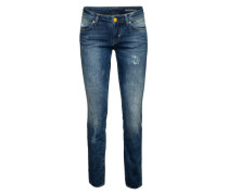 Super Skinny Destroyed Denim 'Malva' blau