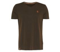 Shirt mit V-Neck schwarz