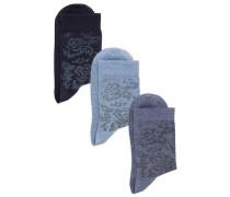 Socken (3 Paar) nachtblau / hellblau / dunkelblau