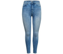 Skinny Fit Jeans 'Posh HW Ankle' blue denim