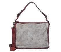 Bauletto Schultertasche Leder 28 cm rot