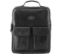 Sfoderata Luxe Uomo Rucksack Leder 38 cm Laptopfach schwarz
