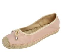 Ballerinas 'Curl' beige / rosa