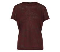 Semitransparentes Shirt burgunder