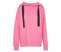 Hoodie mit breiten Zugbändern pink
