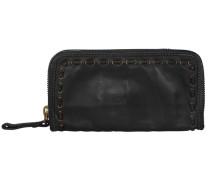 Ginepro Geldbörse Leder 21 cm schwarz