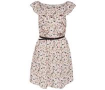Bedrucktes Kleid ohne Ärmel pink