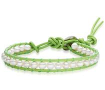 Armband hellgrün / perlweiß