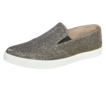 Slipper in Glitzer-Optik gold