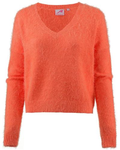 V-Pullover koralle