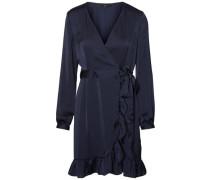 Feminines Wickel-Kleid nachtblau