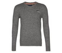 Pullover mit Kaschmir-Anteil graumeliert