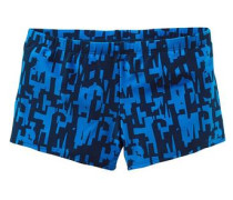 Boxerbadehose blau / schwarz