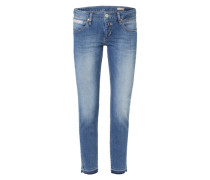 5-Pocket-Jeans 'Touch Cropped' blau