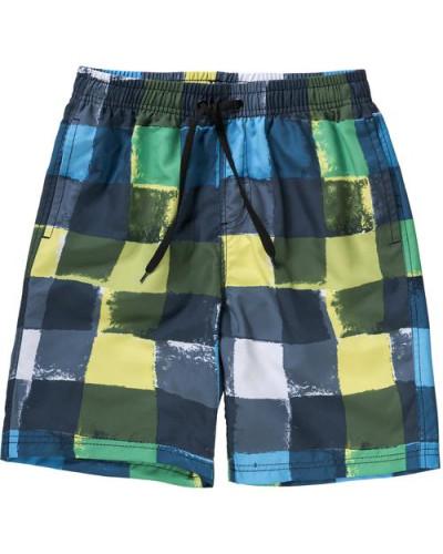 Badeshorts für Jungen blau / dunkelblau / gelb / grün / weiß