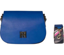 Handtaschen »TH Twist Saddle BAG Leather Hella Stripe« blau
