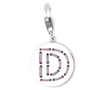 Charm Letter Fabric D silber