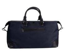 Leder-/Nylon-Tasche ultramarinblau / schwarz