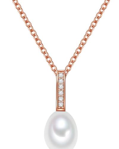 Halskette rosegold / perlweiß