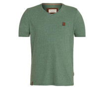T-Shirt 'Schimpanski Viii' grünmeliert